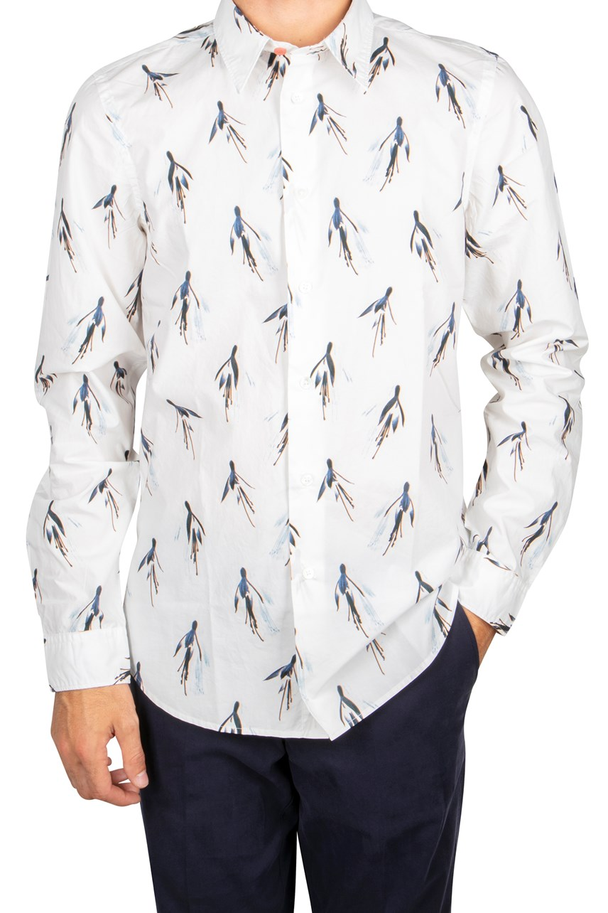 Printed Tailored Fit Shirt