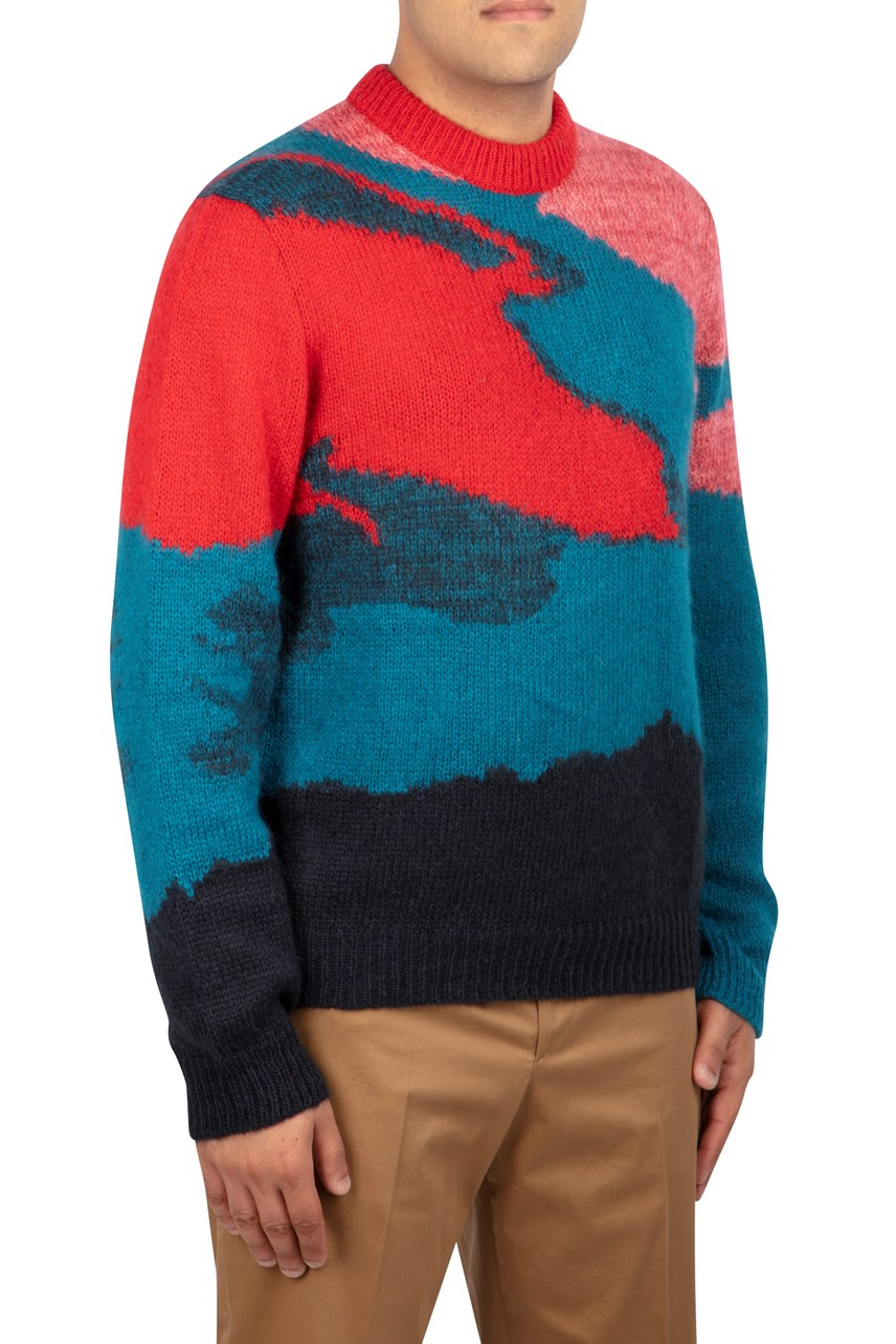 Multi Camouflage Mohair Sweater