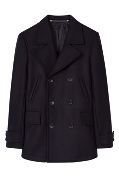Reefer Wool Cashmere Pea Coat 48 1