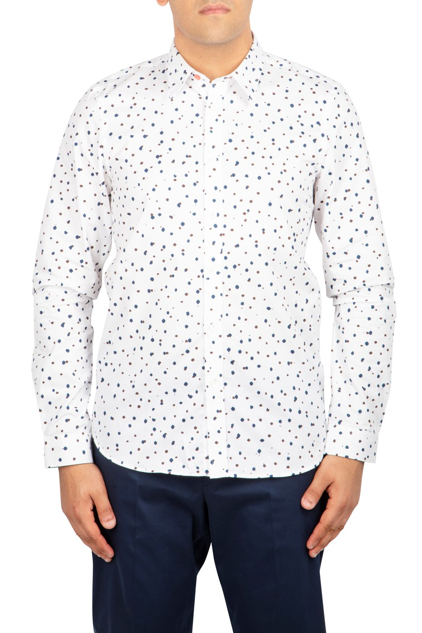 Speckled Longsleeve Tailored Shirt