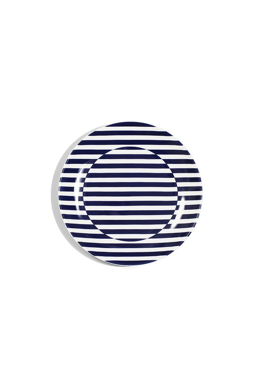 Superstripe Coupe Bread Plate - 16cm
