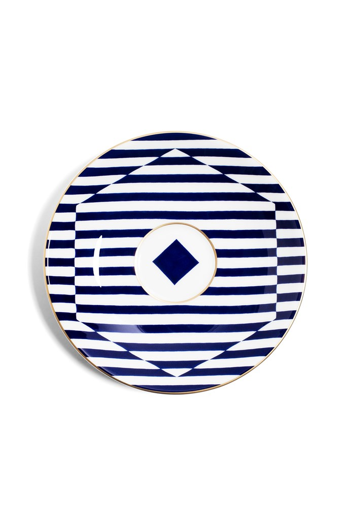 Superstripe Warp Tea Saucer