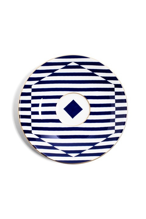 Superstripe Warp Tea Saucer -