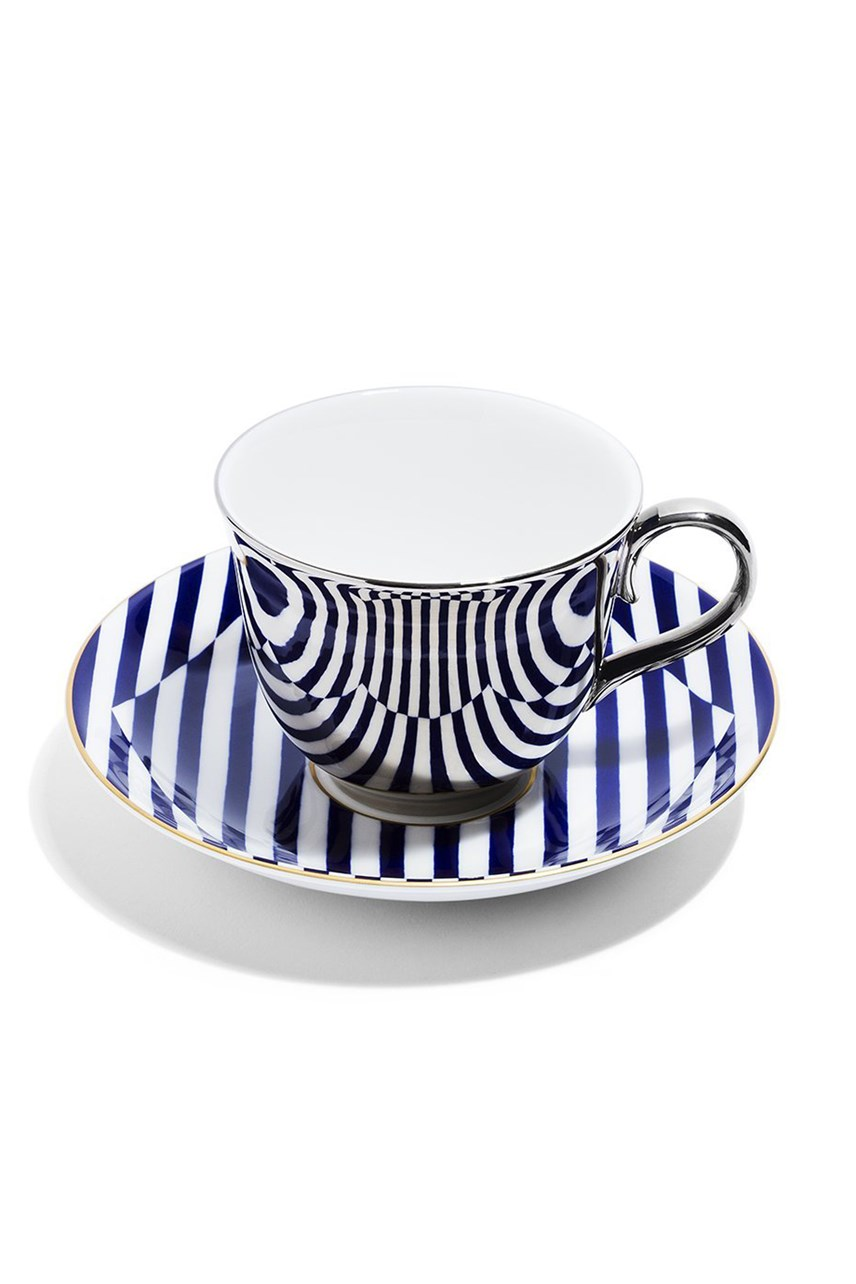 Superstripe Teacup - Platinum