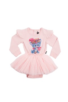 Pretty Kitty Long Sleeve Circus Dress - pink
