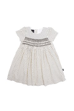 Polka Dot Smock Dress CREAM 1
