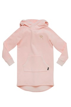 Bunny Ears Hooded Dress MUSK PINK 1