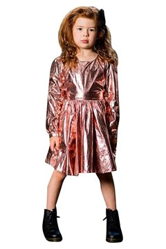 Metallic Pink Mad Men Dress - pink