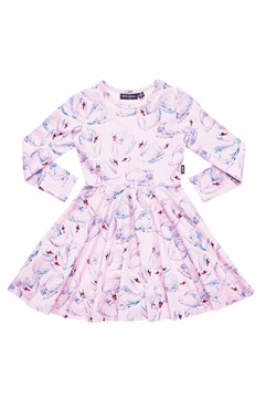 Swans Waisted Dress PINK 1