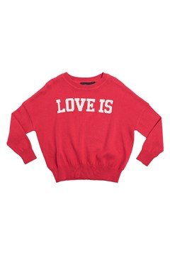 Love Is Knit Pullover RED 1