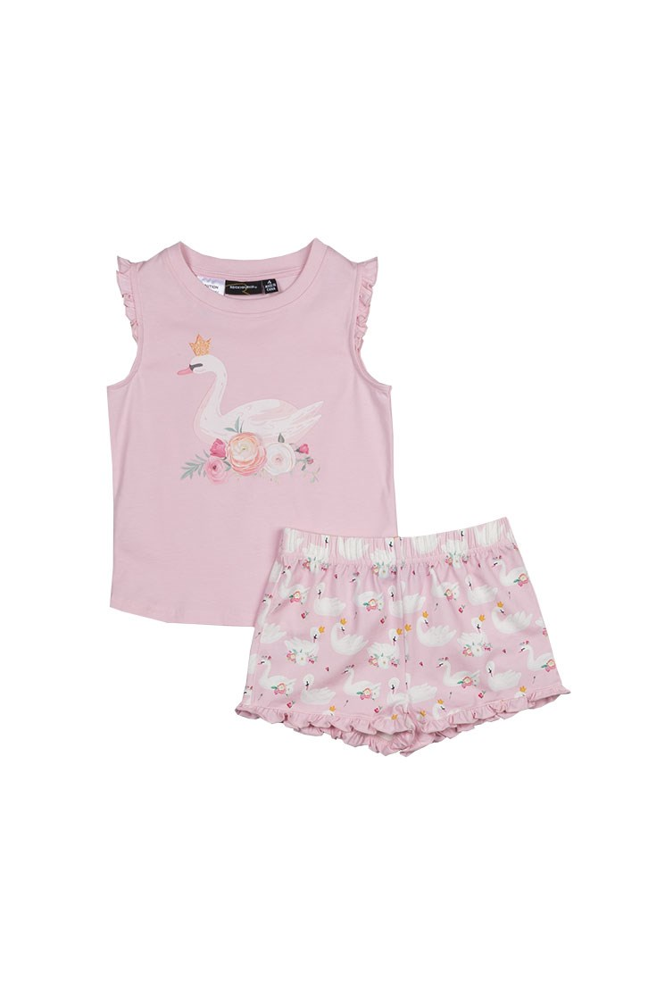 Swans Shortie Pyjama Set
