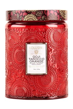 Goji Tarocco Orange Large Jar Candle 1