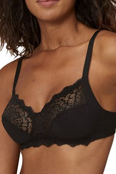 Caresse Soft Cup Bra BLACK 1