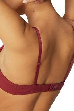 Wish Push-Up Triangle Bra - wine