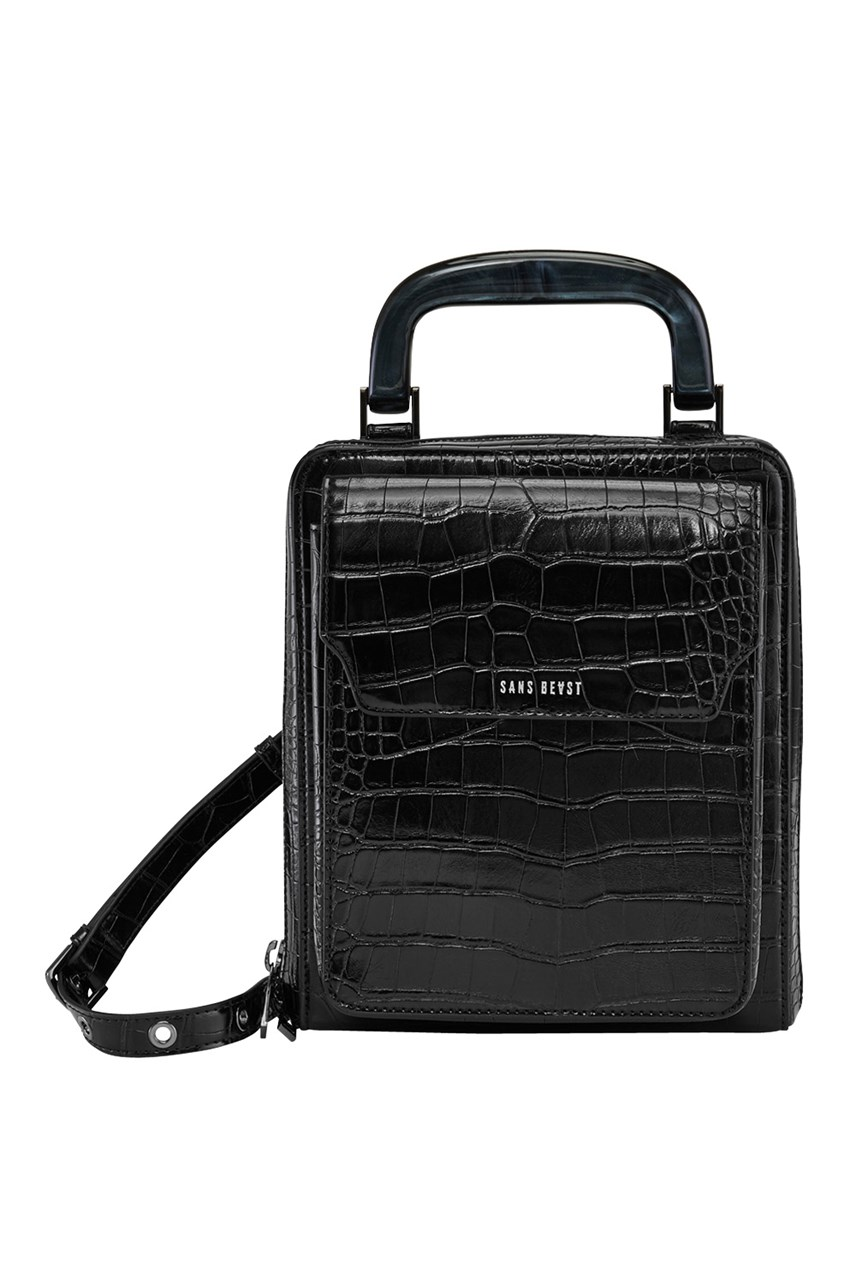 Noir Alligator Jane Of All Trades Hip Bag