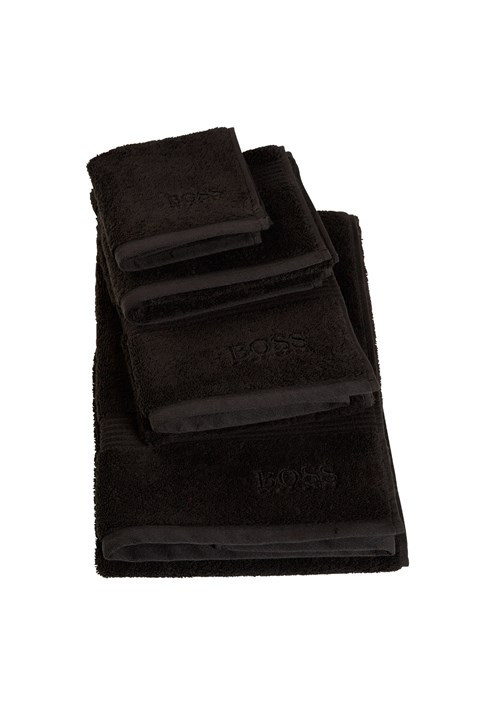 'Loft' Guest Towel - black
