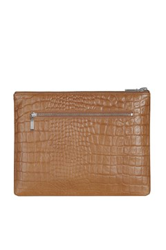 Anti-Heroine Clutch Wallet - tan croc