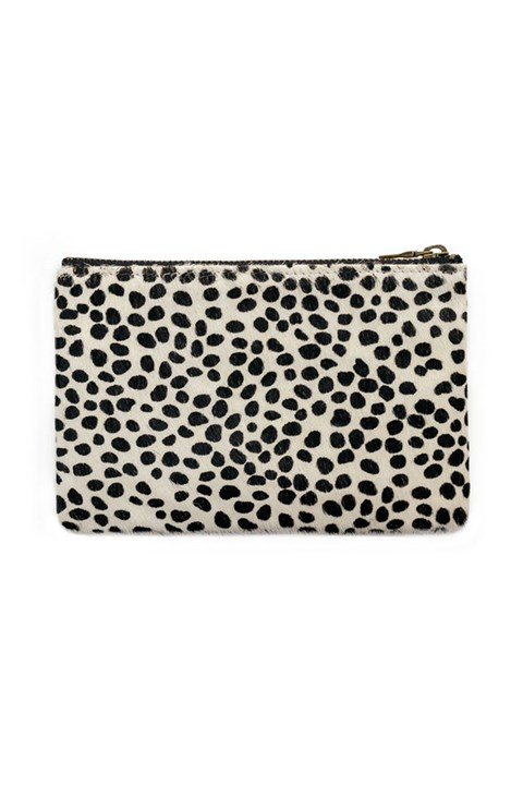 'Maud' Wallet - snow cheetah