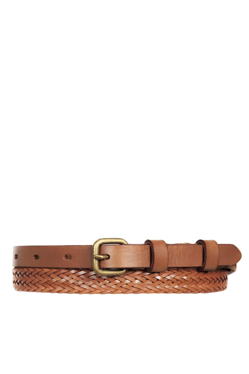 Only Lovers Left Tan Plaited Belt