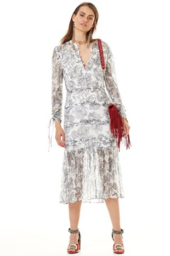 Cinema Midi Dress PAISLEY PRIN 1
