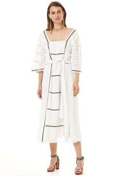 Kensington Midi Dress SNOW WHITE 1