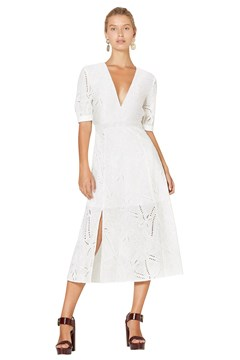 My Pleasure Midi Dress - cream base