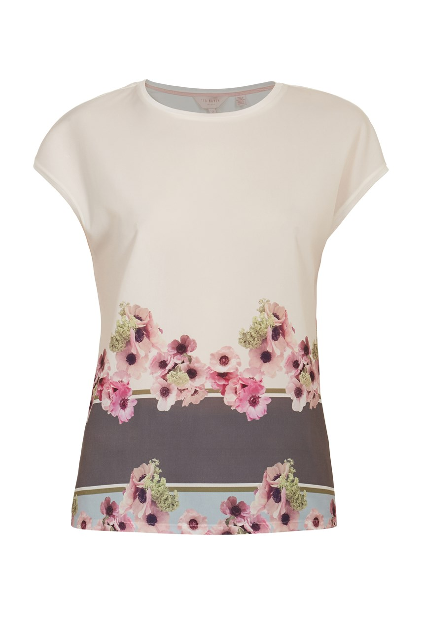 Twixie Floral Border T-Shirt