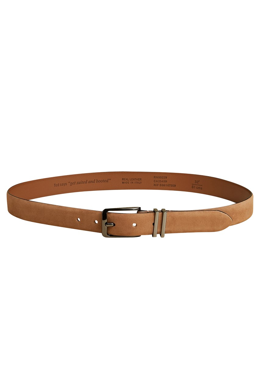 Crumbs Nubuck Leather Belt