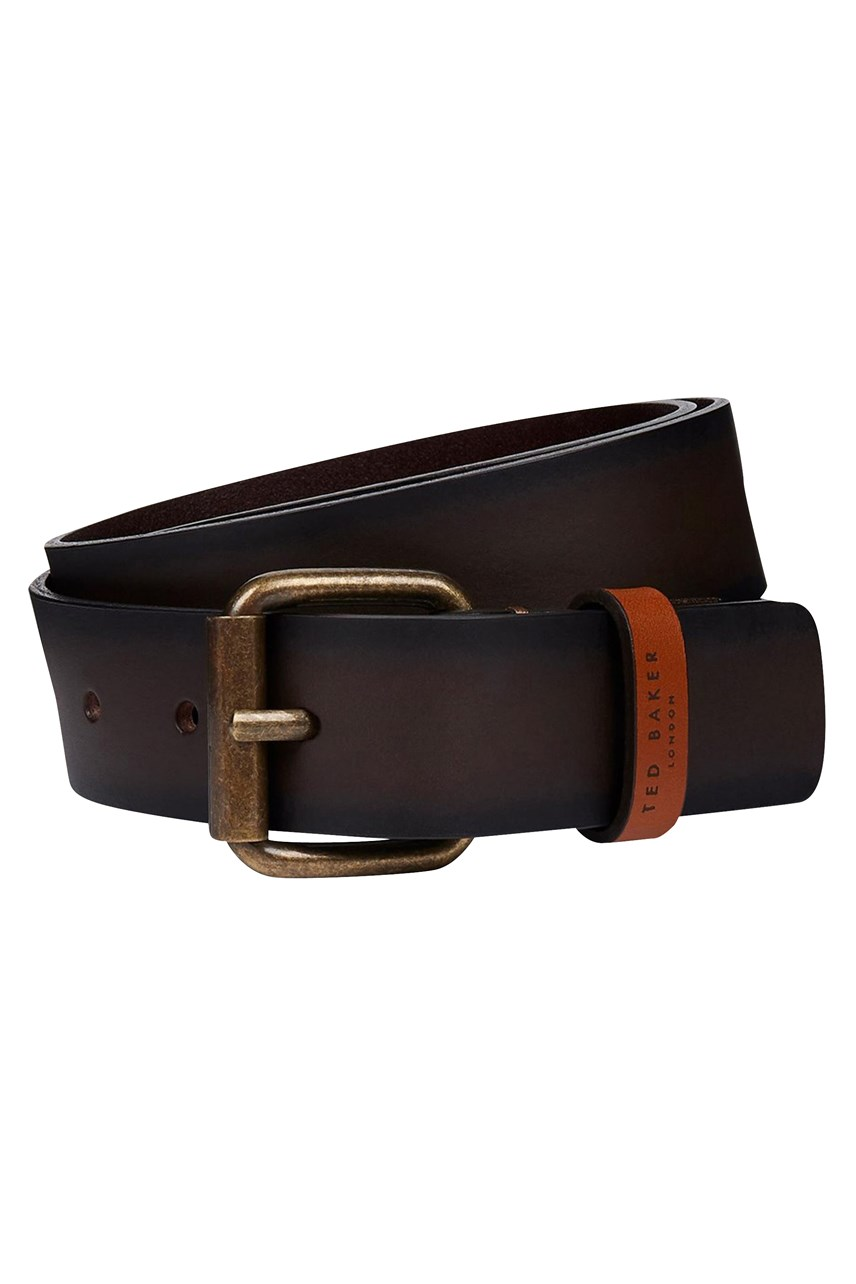 Kammden Leather Belt With Branded Stud