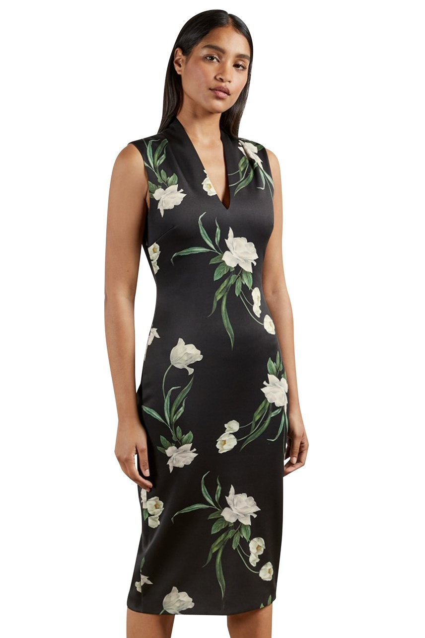 Polliee Elderflower Bodycon Dress
