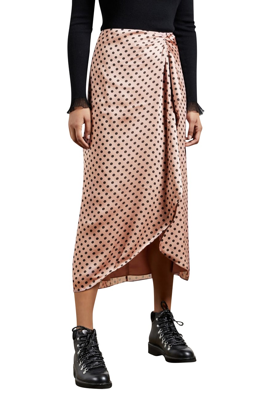 Savsaa Polka Dot Ruffled Skirt