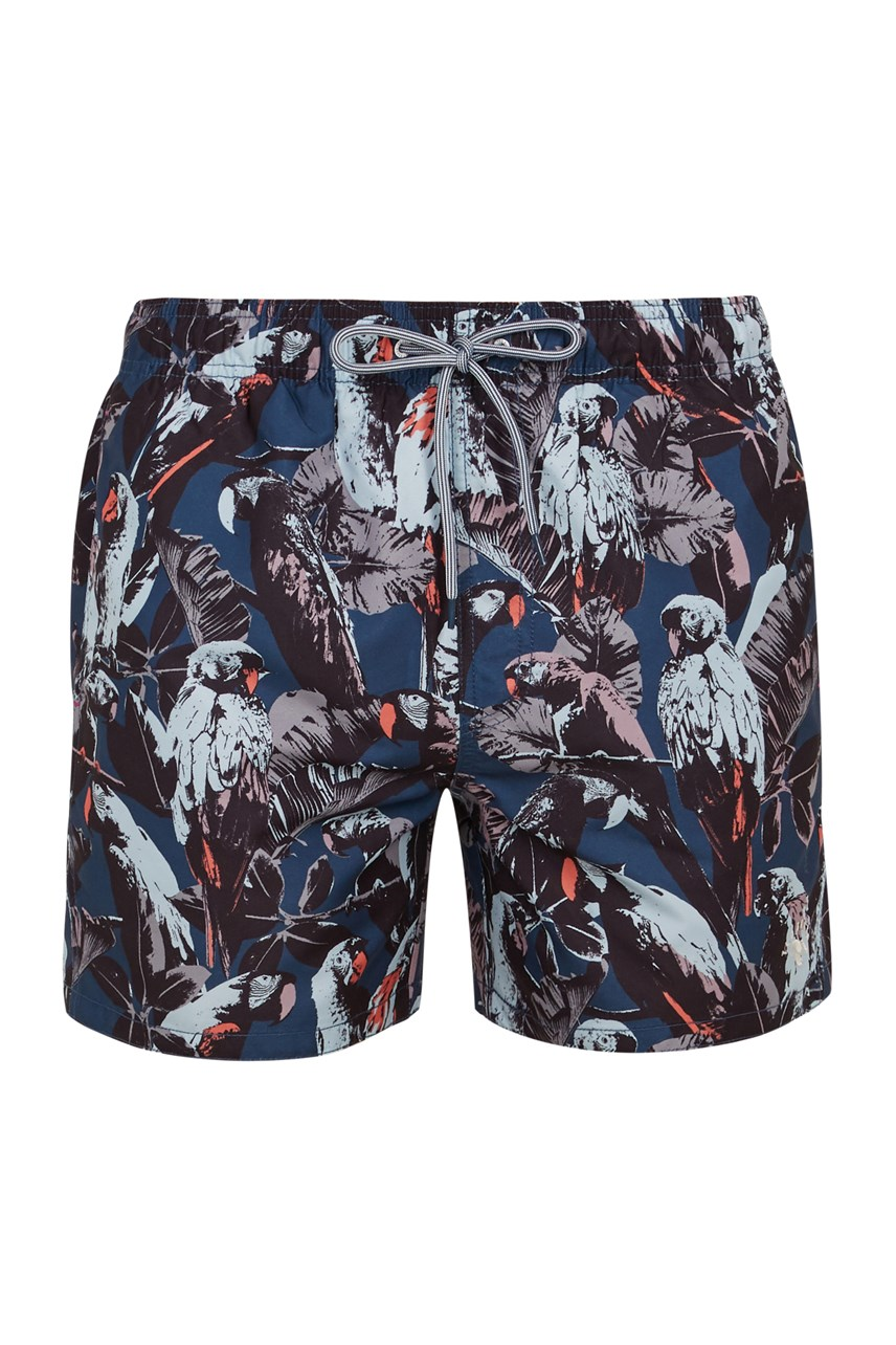 Parrot Print Shorty Swim Short