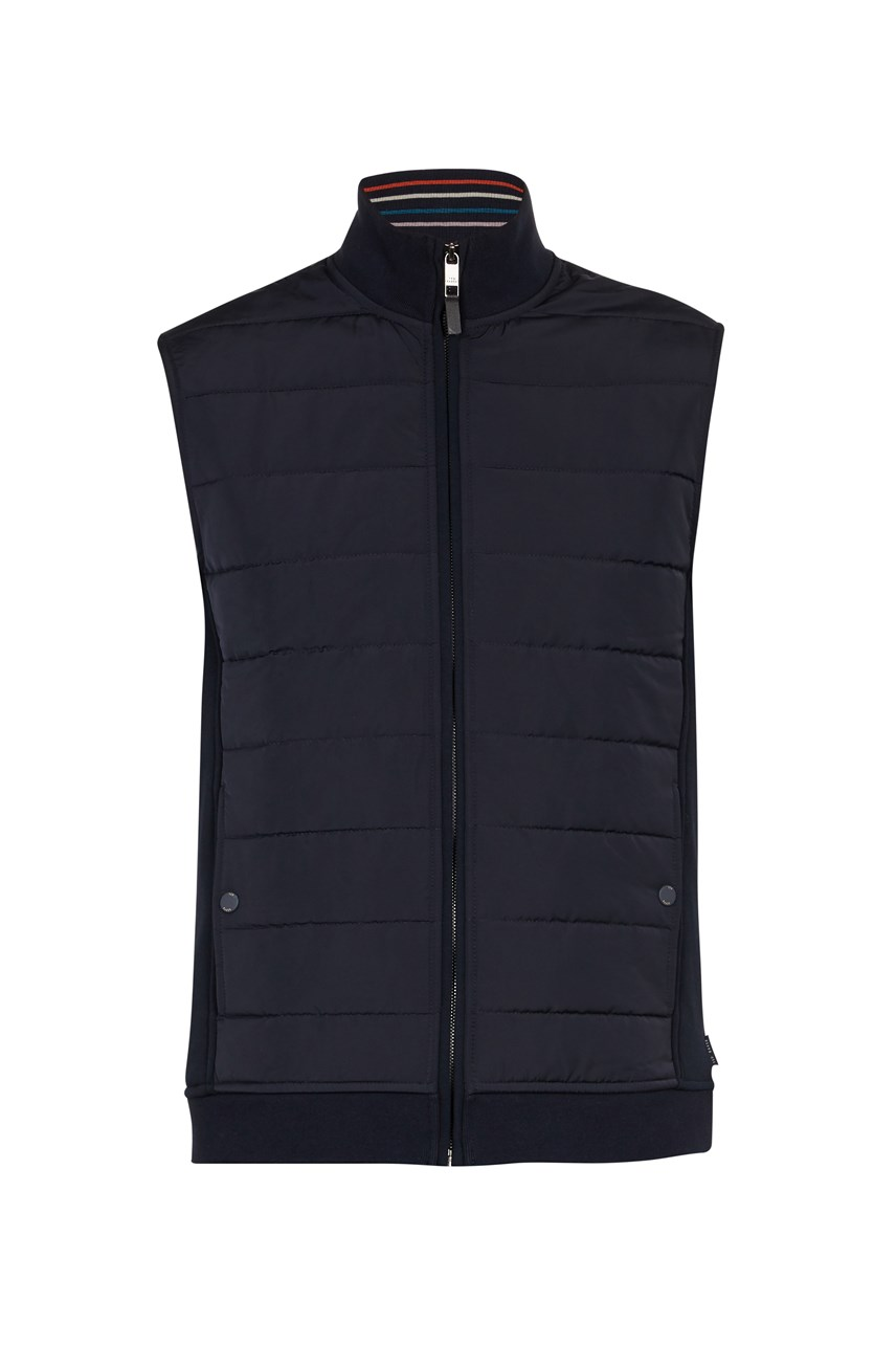 Quilted Nylon Jersey Gilet