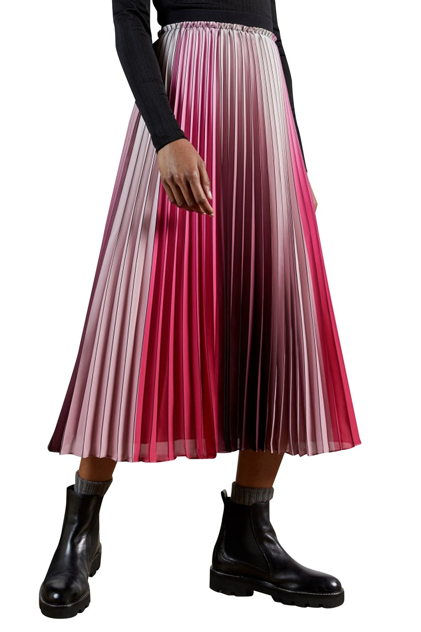 Selmma Ombre Pleated Skirt