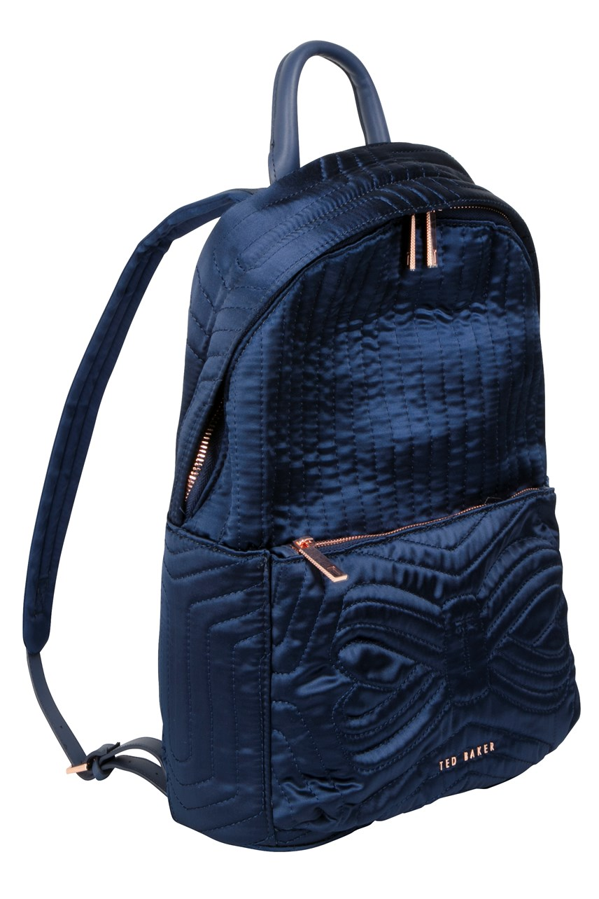 Akija Quilted Bow Nylon Backpack