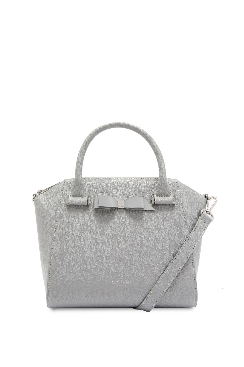 Janee Bow Detail Zip Tote Bag