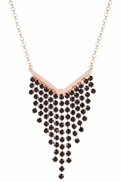 Odessa Ombre Crystal Waterfall Necklace BLACK 1