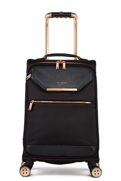 Albany Cabin 4 Wheel Soft Trolley Case BLACK/ROSE GOLD 1