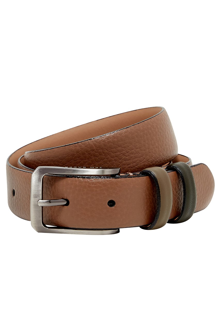 Shrubs Coloured Keeper Leather Belt