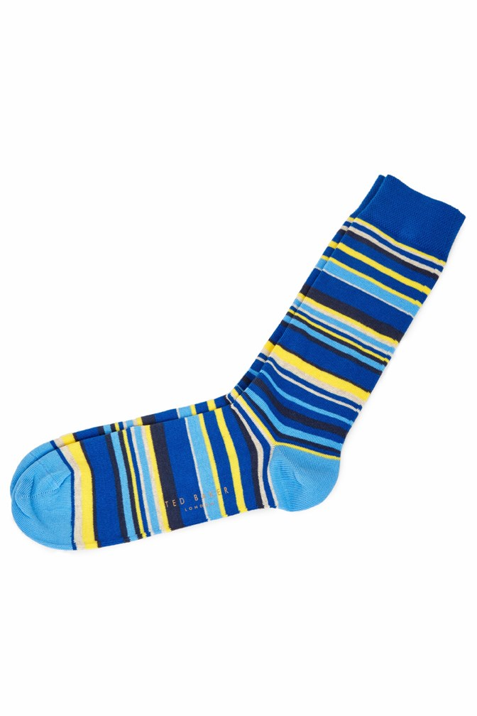 Riven Stripe Print Sock