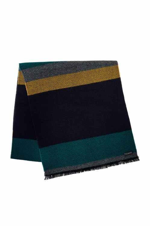 Helston Four Colour Striped Scarf