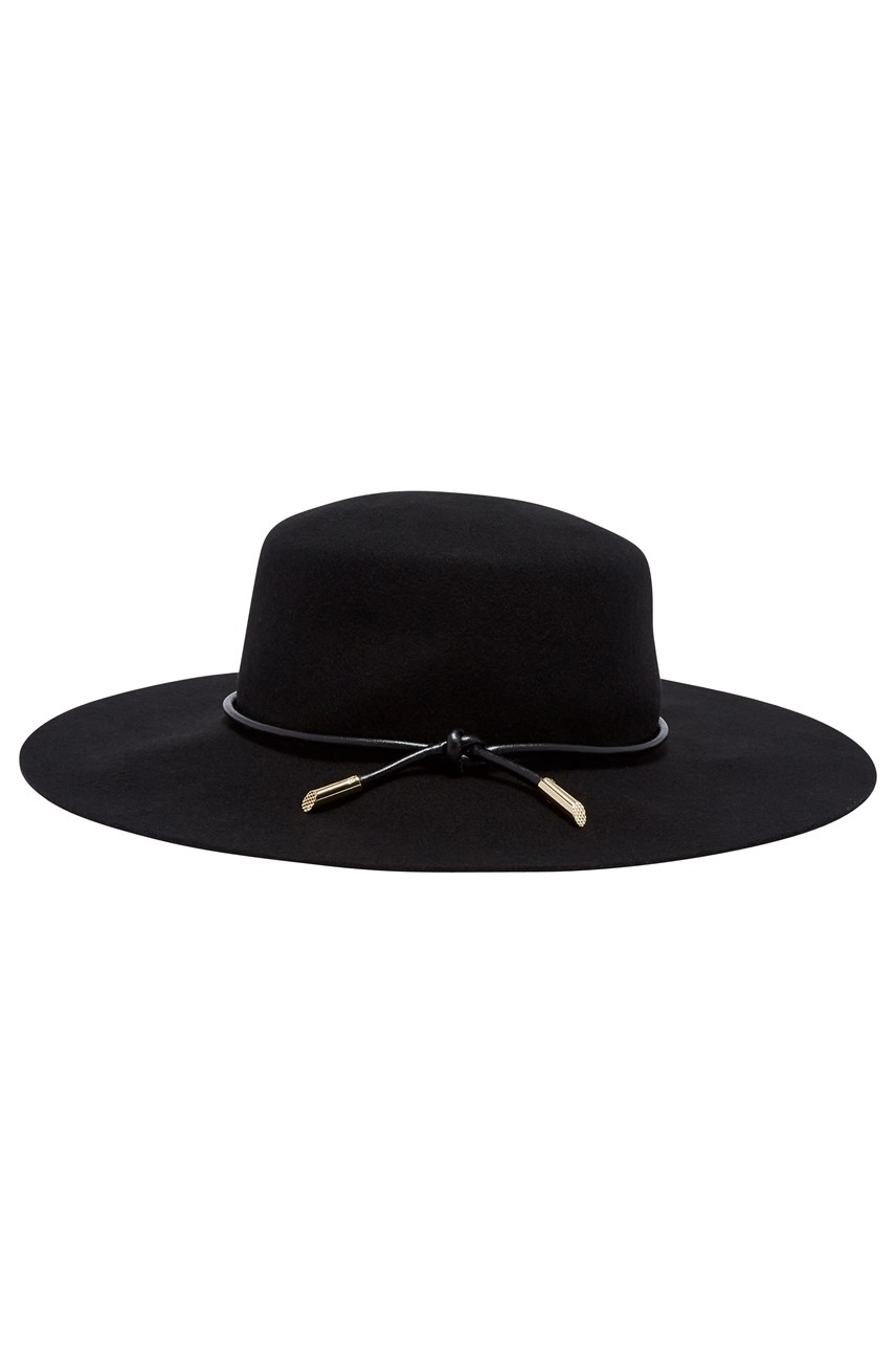 Alizza Rope Trim Flat Brimmed Hat