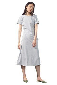 Adjustable Side Cotton Dress SILVER 1