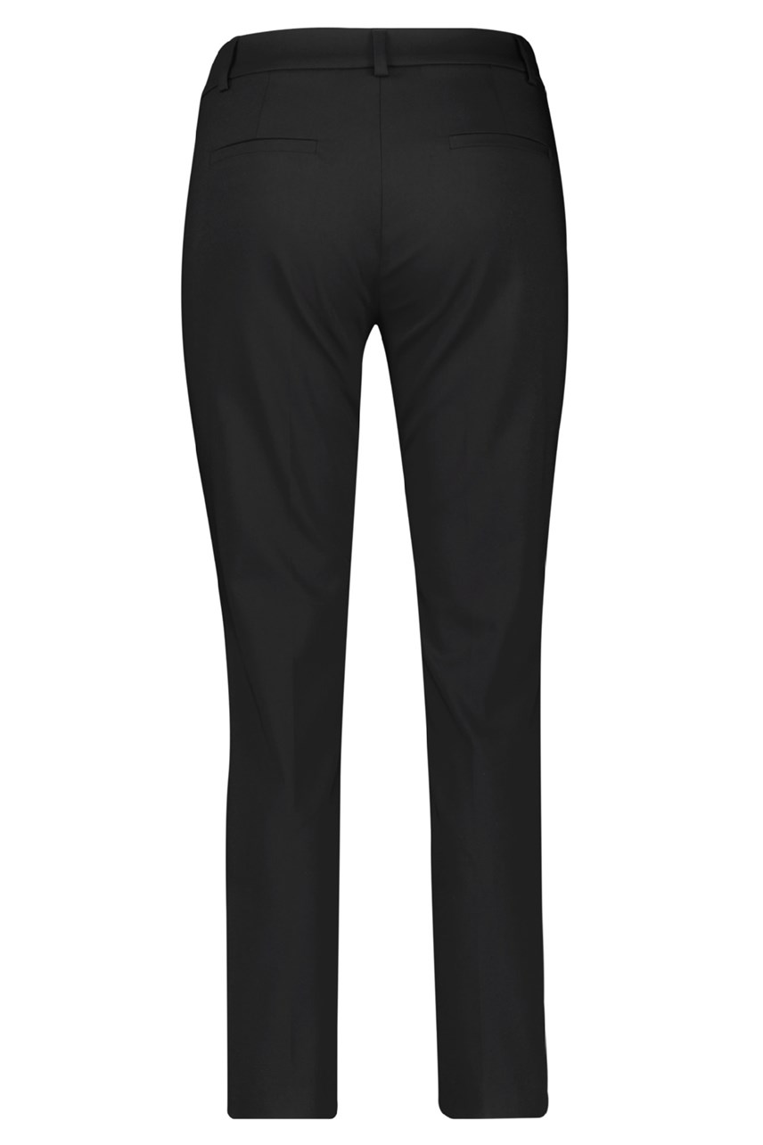 Cropped Leisure Trousers With Contrast Stripe