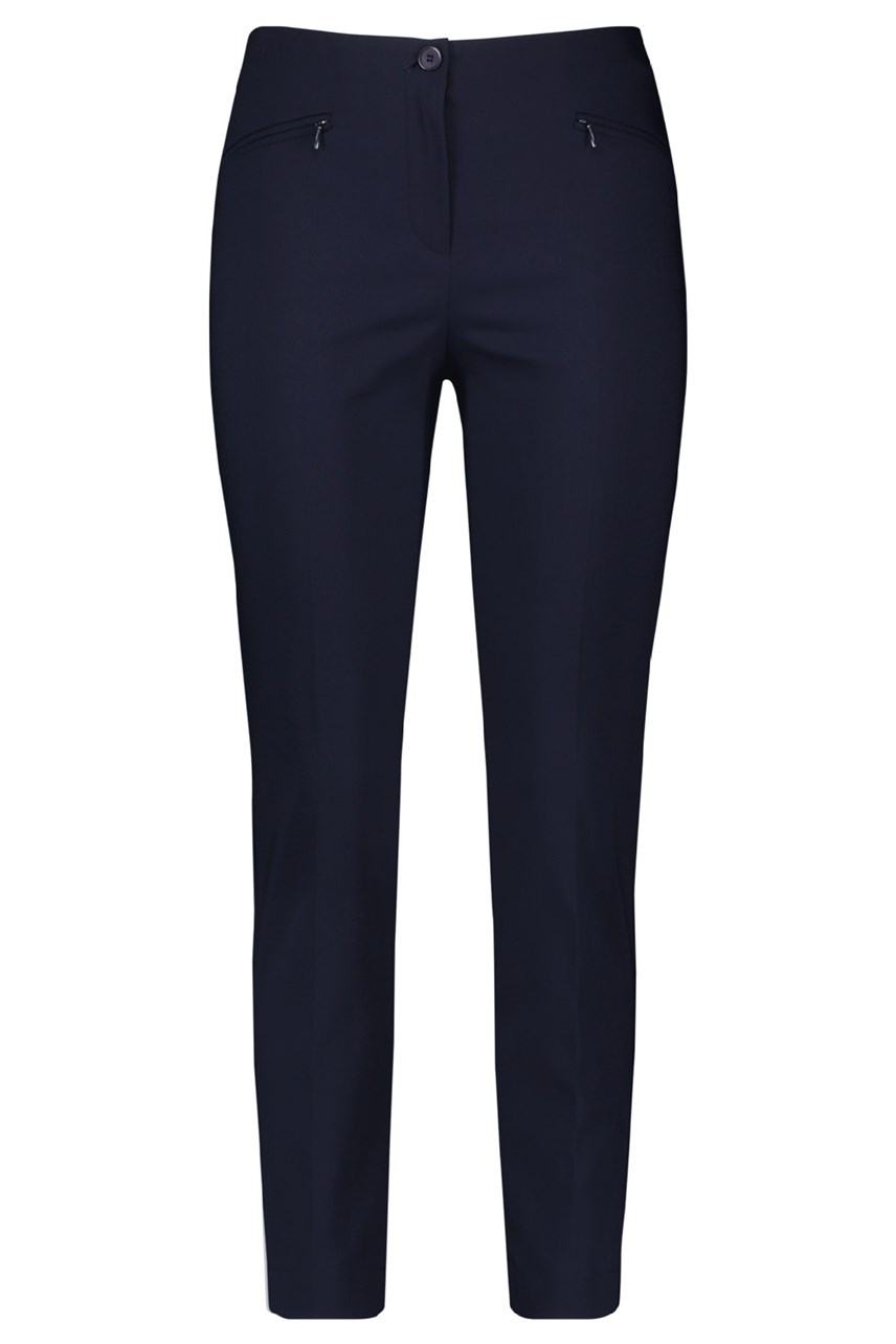 Cropped Trousers With Zip Pockets