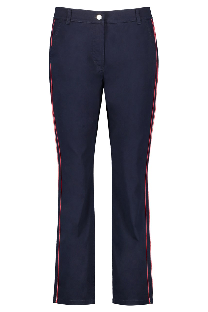 Flared Trousers With Contrast Stripe