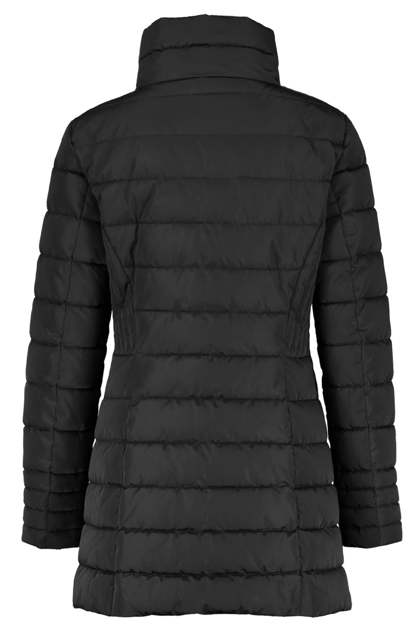 Funnel Neck Quilted Coat