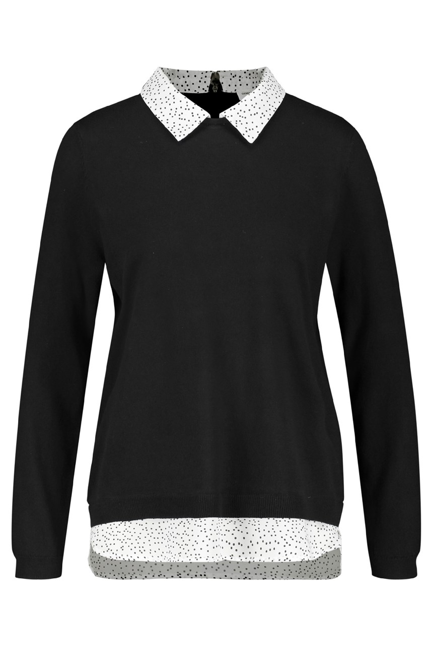 Contrast Collar Pullover