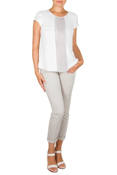 Crop Leisure Trousers STONE 1