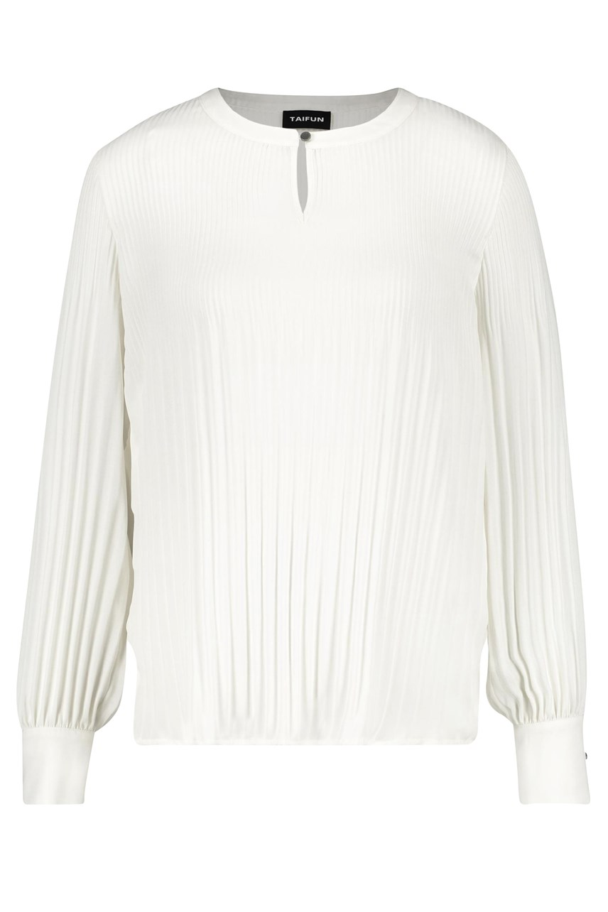 Pleat Detail Longsleeve Blouse